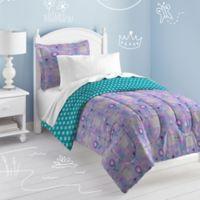 Dream Factory Cat Garden 7-Piece Reversible Full Comforter Set in Grey