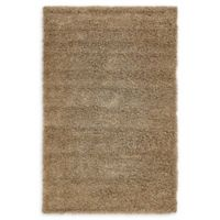 Unique Loom Solid Shag 5' X 8' Powerloomed Area Rug in Sandy Brown
