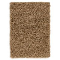 "Unique Loom Solid Shag 2'2"" X 3' Powerloomed Area Rug in Sandy Brown"