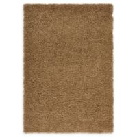 Unique Loom Solid Shag 4' X 6' Powerloomed Area Rug in Sandy Brown