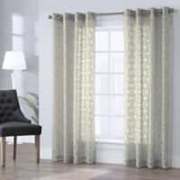 Voltaire 63-Inch Grommet Window Curtain Panel in Ivory
