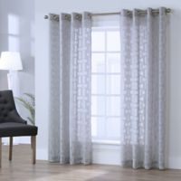 Voltaire 63-Inch Grommet Window Curtain Panel in Grey