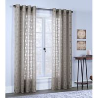 Voltaire 84-Inch Grommet Window Curtain Panel in Taupe