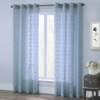 Voltaire 63-Inch Grommet Window Curtain Panel in Mist