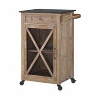 Linon Home Ashboro Kitchen Cart in Rustic Brown