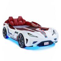 Cilek GTS Race Car Twin Bed in White