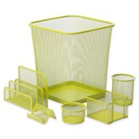 Honey-Can-Do 6-Piece Desk Organizer Set in Lime