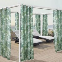 Banana Leaf 108-Inch Grommet Window Curtain Panel in Green