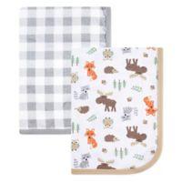 Hudson Baby® Woodland 2-Pack Muslin Swaddle Blanket Set in Green