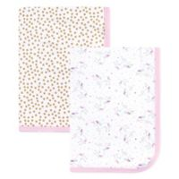 Hudson Baby® Magical Unicorn 2-Pack Interlock Swaddle Blanket Set in Pink