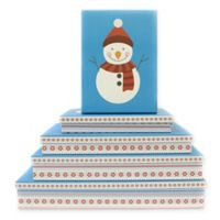 5-Piece Snowman Flat Gift Box Set in Blue