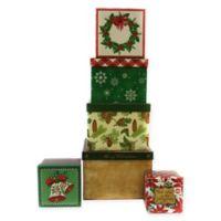 6-Piece Christmas Square Gift Box Set