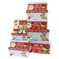 Santa and Elf Holiday Gift Boxes (Set of 5)