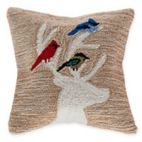Liora Manne Deer & Friends Square Throw Pillow in Natural