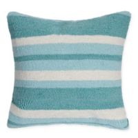 Liora Manne Nautical Stripe Square Throw Pillow in Blue