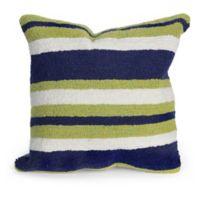 Liora Manne Nautical Stripe Square Throw Pillow in Green