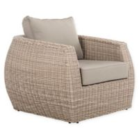 Safavieh Elora All-Weather Wicker Arm Chair in Light Grey