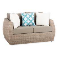 Safavieh Elora All-Weather Wicker 2-Seater Sofa in Light Grey