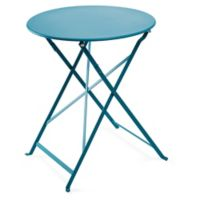 Café Indoor/Outdoor Round Bistro Table in Turquoise