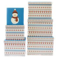 Square Holiday Gift Boxes in Black/White (Set of 6)