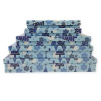 Christmas Tree Holiday Gift Boxes in Blue (Set of 5)