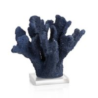 Zodax Pacific Coral Sculpture in Blue with Acrylic Base