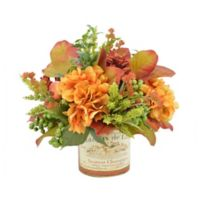 Hydrangea and Cactus Artificial Arrangement with Vase