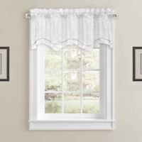 Constantine Scallop Window Valance in White