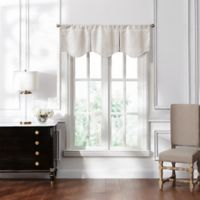 Waterford® Lucida Lace Pleated Valance in Ivory