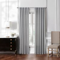 Waterford® Lucida 84-Inch Rod Pocket/Back Tab Window Curtain Panel Pair in Grey