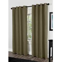 Shantung 84-Inch Grommet Room Darkening Window Curtain Panel Pair in Lime