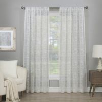 Cascade 63-Inch Rod Pocket Semi-Sheer Window Curtain Panel in Winter White