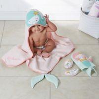Enchanted Mermaid Embroidered Baby Bath Set