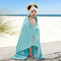 Embroidered Shark Kids' Hooded Beach Towel