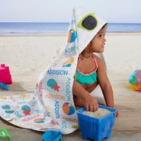 Beach Fun! Personalized Hooded Beach & Pool Towel