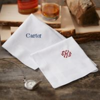 Mens Embroidered Handkerchief