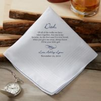 Father of the Bride Wedding Personalized Handkerchief