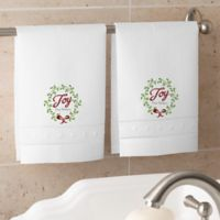Spirit Of The Season Personalized Guest Towel Set