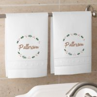 Cozy Christmas Personalized Guest Towel Set