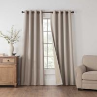 Draftblocker Easton 84-Inch Grommet Room Darkening Window Curtain Panel in Linen