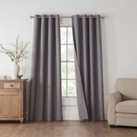 Draftblocker Easton 108-Inch Grommet Room Darkening Window Curtain Panel in Grey