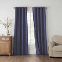 Draftblocker Easton 108-Inch Grommet Room Darkening Window Curtain Panel in Blue