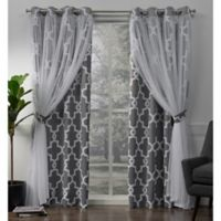 Alegra 96-Inch Grommet Window Curtain Panel Pair in Charcoal