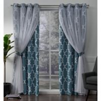 Alegra 84-Inch Grommet Window Curtain Panel Pair in Turquoise