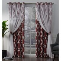 Alegra 84-Inch Grommet Window Curtain Panel Pair in Wine