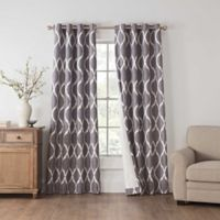 Draftblocker Easton Printed 95-Inch Grommet Room Darkening Window Curtain Panel in Grey