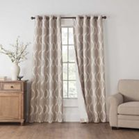 Draftblocker Easton Printed 63-Inch Grommet Room Darkening Window Curtain Panel in Linen