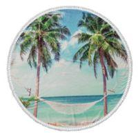 Enchante Home® Summer Turkish Cotton Round Beach Towel