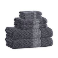 Enchante Home® Anton 6-Piece Turkish Cotton Towel Set in Anthracite