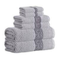 Enchante Home® Anton 6-Piece Turkish Cotton Towel Set in Silver
